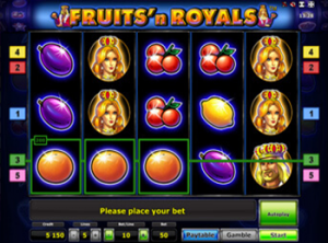 Играть в казино Вулкан в автомат Fruits and Royals